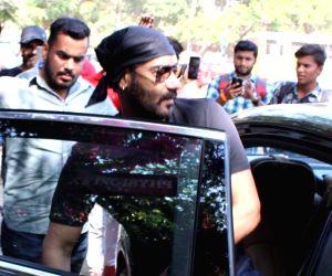Actor Ajay Devgn seen at Mumbai's Versova, on March 13, 2019.