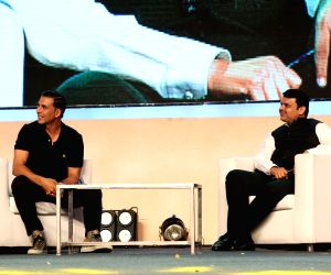 Akshay Kumar at Transform Maharashtra Innovative Exhibition