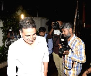 Akshay Kumar seen at a studio