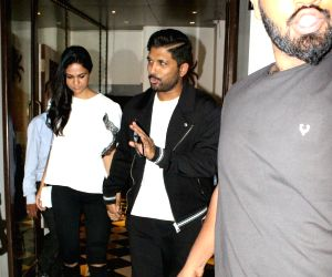 Allu Arjun and Sneha Reddy seen at Mumbai's Bandra