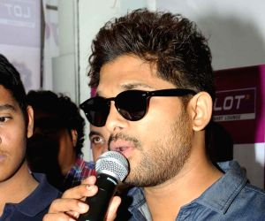 Allu Arjun during inauguration of LOT show room