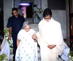 Rani Mukerji's father prayer meet -Amitabh Bachchan and Jaya Bachchan