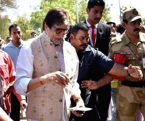 Actor Amitabh Bachchan at Jodhpur airport on March 21, 2018.