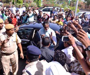 Amitabh Bachchan arrives at Jodhpur Airport