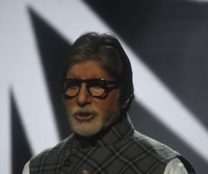 "Amitabh Bachchan during ""Banega Swachh India"" campaign"