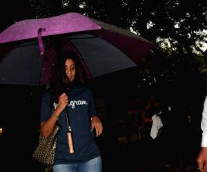 Shweta Bachchan-Nanda seen at a salon