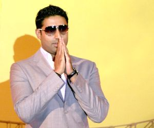 Actor and Brand Ambassador of 'Idea' cellular Abhishek Bachchan at the launch ceremony of IDEA cellular service in Kolkata and part of West Bengal on Tuesday.