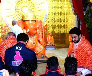 Abhishek Bachchan at Doongari Ganesha Temple