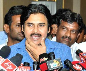 Pawan Kalyan talks to media