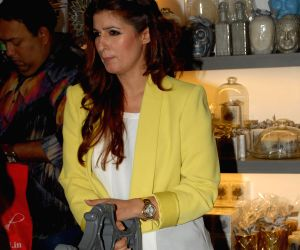 Twinkle Khanna at the preview of Flower Power Collection