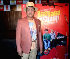 """Actor Annu Kapoor at the music launch of upcoming film """"Baa Baa Black Sheep"""" in Mumbai on March 1, 2018."""