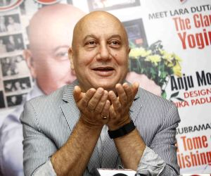 Anupam Kher launches magazine cover, featuring himself