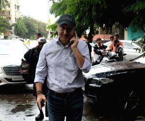 Actor Anupam Kher seen at Juhu, in Mumbai on June 18, 2019.