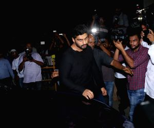 Actor Arjun Kapoor arrives at the residence of his uncle and actor Anil Kapoor in Mumbai on Feb 26, 2018.
