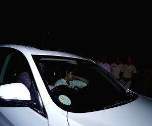 Actor Arjun Kapoor's sister Anshula Kapoor arrives at actress Sridevi's residence to pay last respects to Sridevi, in Mumbai on Feb 27, 2018. Veteran actress Sridevi passed away following ...