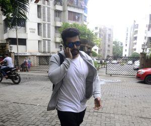 Arjun Kapoor seen at filmmaker Karan Johar's residence