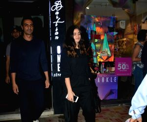 Actor Arjun Rampal and Gabriella Demetriades seen at Mumbai's Bandra on Dec 5, 2018.
