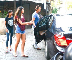 Arjun Rampal with his daughters seen at Mumbai's Bandra