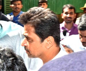 Arjun Sarja arrives for questioning in sexual harassment case