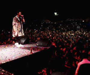 Ayushmann Khurana performing live