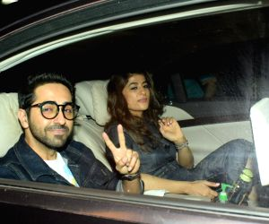 "Special screening of film ""October"" - Ayushmann Khurrana and Tahira Kashyap"