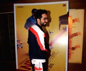 Ayushmann Khurrana seen at Mumbai's Juhu