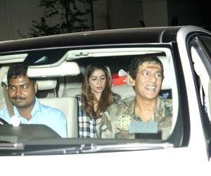"""Special screening of film """"Ittefaq"""" - Chunky Pandey and Bhavna Pandey"""