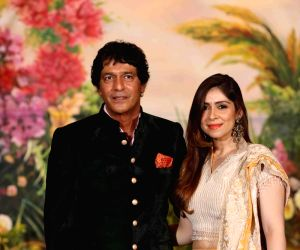 Sonam Kapoor and Anand Ahuja's wedding reception - Chunky Pandey and Bhavna Pandey