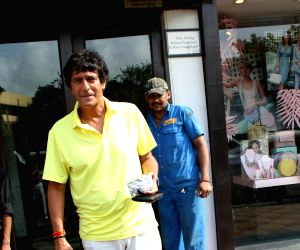 Chunky Pandey seen at Bandra