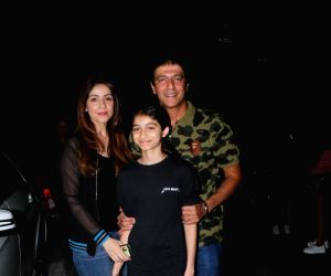 Chunky Pandey with his family at HRVY's concert