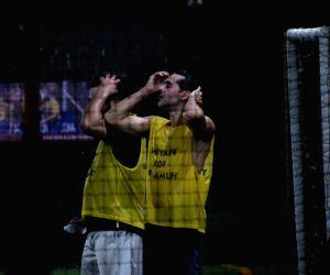 Dino Morea during football match in Mumbai's Juhu