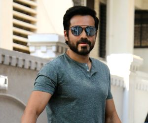 Emraan Hashmi seen outside Anand Pandit's house