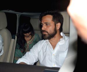 Emraan Hashmi seen with family at Bandra
