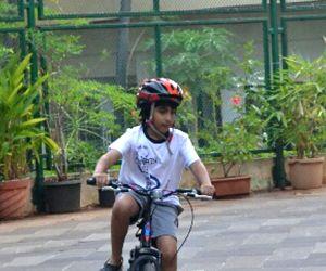 Emraan Hashmis son Ayaan seen at Mumbai's Bandra