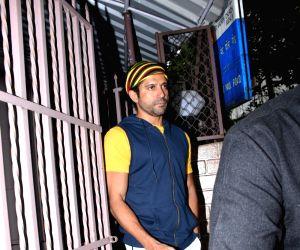 Farhan Akhtar seen at Bandra
