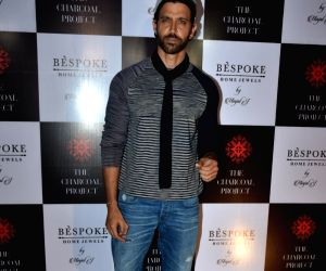 Actor Hrithik Roshan at a store launch in Mumbai on April 13, 2018 .