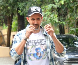 """Actor Hrithik Roshan during the promotions of his upcoming film """"War"""" in Mumbai on Sep 17, 2019."""