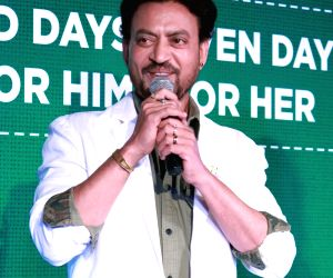 Irrfan Khan during a promotional programme