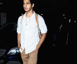 Ishaan Khatter seen at Mumbai airport