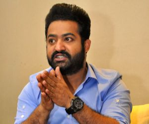 Junior NTR during a pressmeet