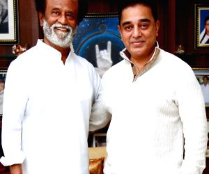 Kamal Hassan calls on Rajinikanth