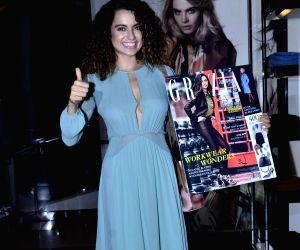 Kangana Ranaut launch cover of Grazia Magazine