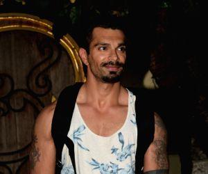 Karan Singh Grover seen at a Juhu spa