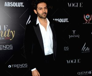 "Red carpet of ""Vogue Beauty Awards"" -Kartik Aaryan"
