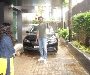 Kartik Aaryan seen at a production office