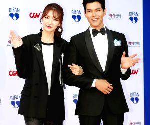 Actor Kim Seung-su and actress Haneul at BIFAN opening