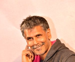Milind Soman launches Probir Sengupta's book 'Unclothed'