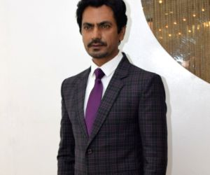 "Nawazuddin Siddiqui during ""Motichoor Chaknachoor"" promotions"