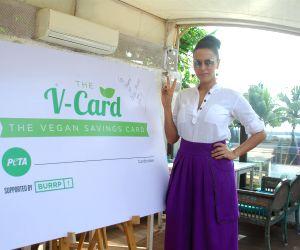 Neha Dhupia unveils PETA's V-Card