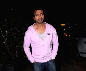 Nikhil Dwivedi seen outside a restaurant